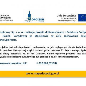 Realizujemy projekt dofinansowany z Funduszy Europejskich